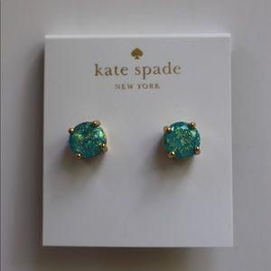 Kate Spade Blue Glitter Studs
